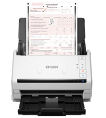 Epson Scanner with Form Loaded